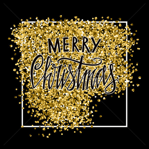 陽気な クリスマス デザイン 金 中古 ストックフォト © kollibri
