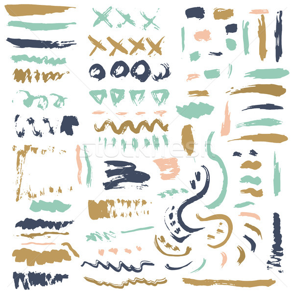 Brush Stroke.Brush Collection.Brush Grunge.Brush Stroke.Brush Vector.Brush Stroke.Brush Line.Brush S Stock photo © kollibri