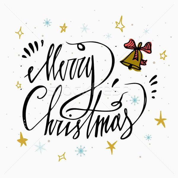 Vrolijk christmas bel geïsoleerd witte perfect Stockfoto © kollibri