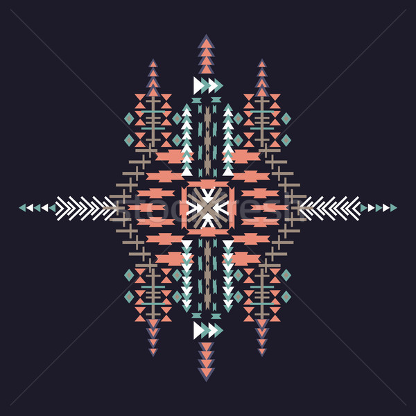Vector Tribal ethnic ornament. Aztec decor elements. Tribal elements design isolated on dark backgro Stock photo © kollibri
