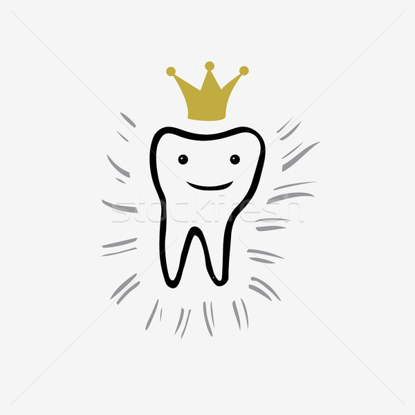 Tooth. Icon vector silhouette. Health, medical or doctor and dentist office symbols. Oral care, dent Stock photo © kollibri