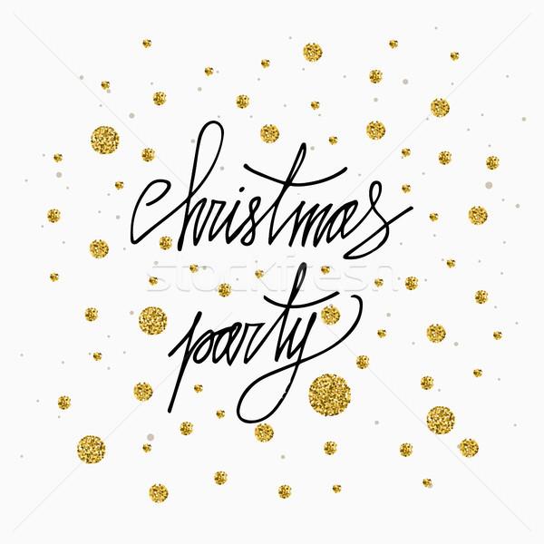 Navidad fiesta tarjeta oro brillo Foto stock © kollibri