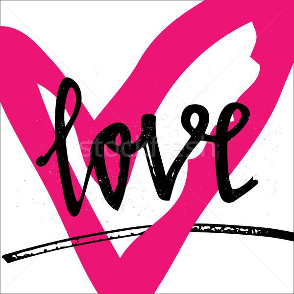 愛 スタイリッシュ ブラシ 手描き デザイン 要素 ストックフォト © kollibri