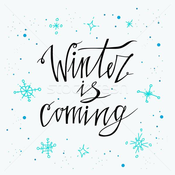 Winter poster vector vakantie achtergronden Stockfoto © kollibri