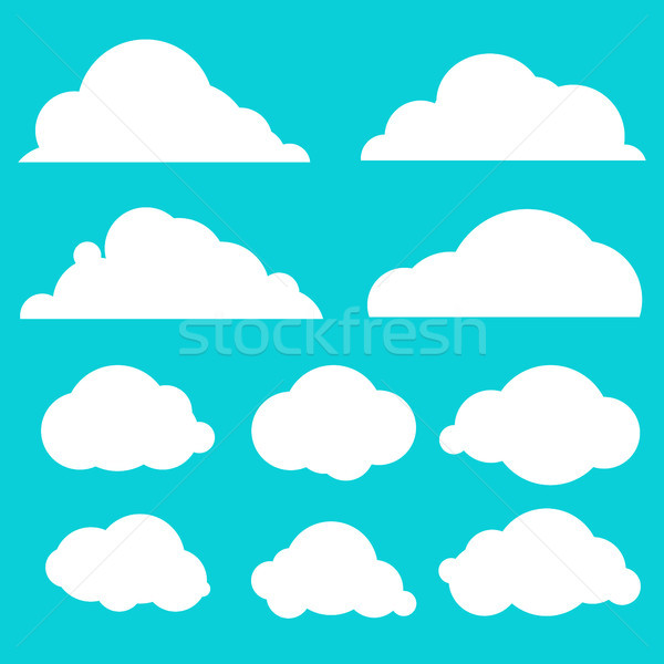 Colección cielo azul aislado azul establecer diferente Foto stock © kollibri