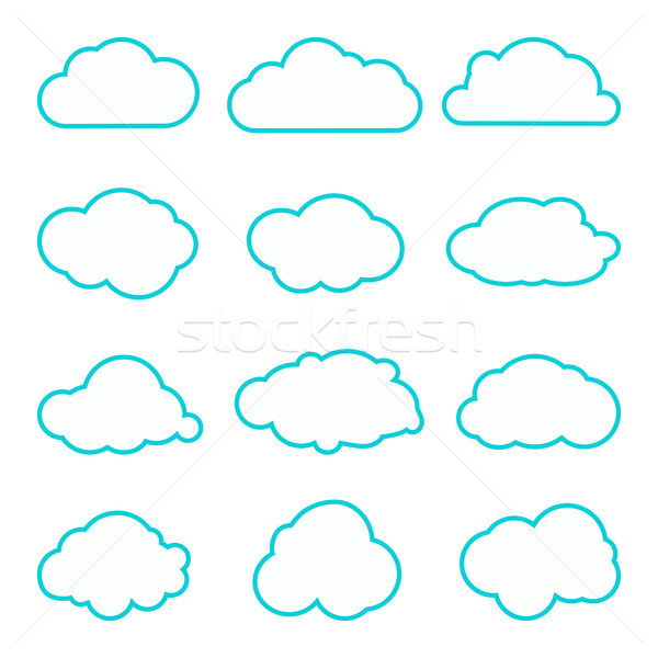コレクション 雲 薄い 行 アイコン 雲 ストックフォト © kollibri