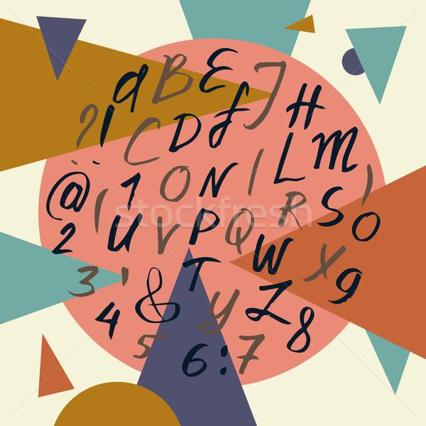 ベクトル アルファベット 手描き 書道 文字 抽象的な ストックフォト © kollibri