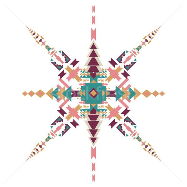Vetor tribal étnico ornamento decoração elementos Foto stock © kollibri