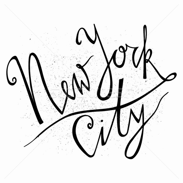 New York city. Hand drawn typography poster.Typographic print poster. T shirt hand lettered calligra Stock photo © kollibri