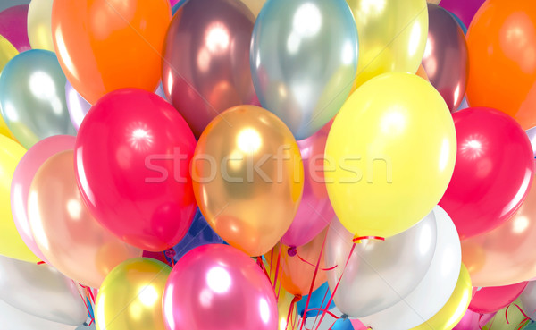 Picture presenting bunch of colorful balloons Stock photo © konradbak
