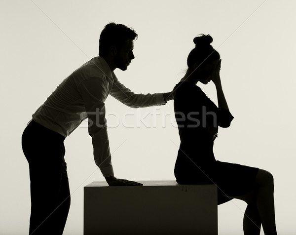 Couple having a big common problem Stock photo © konradbak