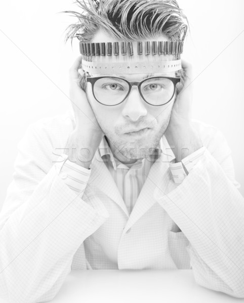 Portrait of a madman scientist  Stock photo © konradbak