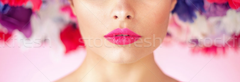 Closeup portrait of a woman wearing a chaplet Stock photo © konradbak