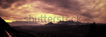 Beautiful cloudy sunset Stock photo © konradbak