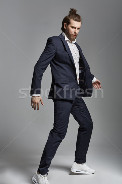 Fashion style photo of a handsome man Stock photo © konradbak