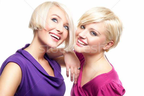Zdjęcia stock: Atrakcyjny · dziewcząt · kobieta · dziewczyna · uśmiech