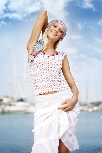 Young woman on the vacation, vogue look  Stock photo © konradbak