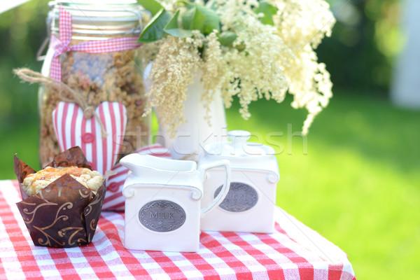 Stock fotó: édes · reggeli · kert · nyár · tavasz · étel