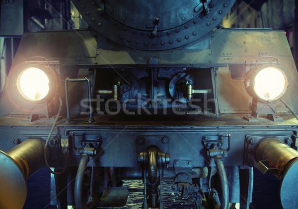 Starych metal maszyny garaż żelaza pracy Zdjęcia stock © konradbak