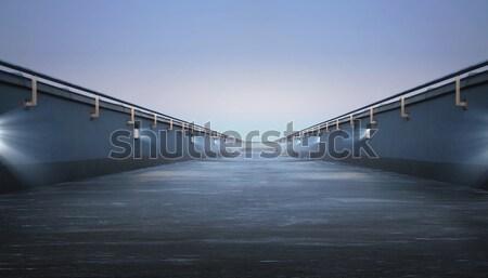 дороги моста Blue Sky небе здании синий Сток-фото © konradbak