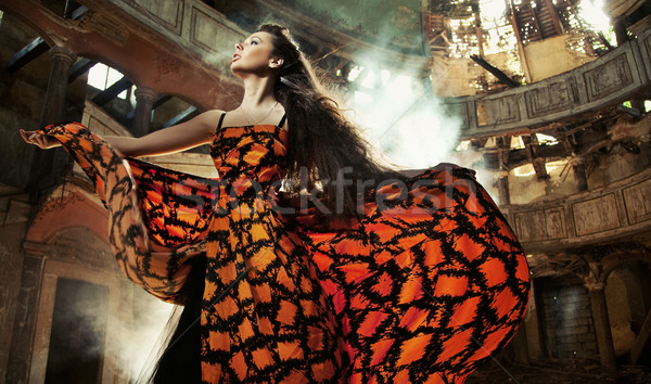 Gorgeous woman in beautiful dress Stock photo © konradbak