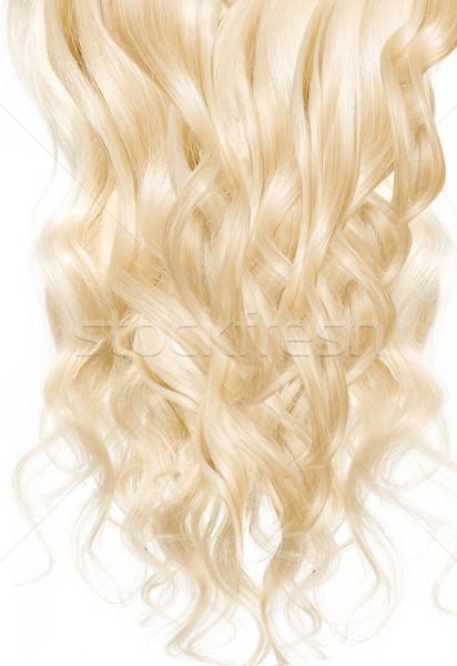 Resim sarışın peruk parlak doku Stok fotoğraf © konradbak