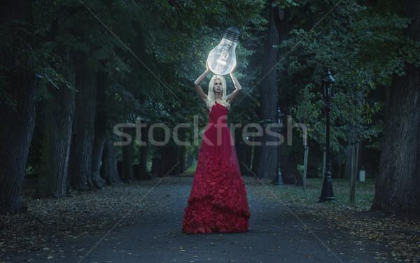 Művészet fotó lenyűgöző szőke nő szépség nagy Stock fotó © konradbak