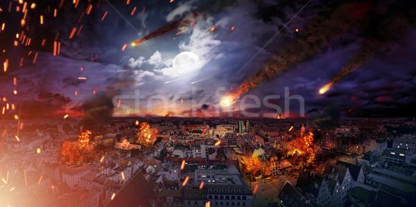 Fotoğraf vahiy korkutucu şehir uzay savaş Stok fotoğraf © konradbak
