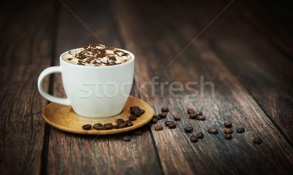 Fine shoot of cup of coffee Stock photo © konradbak