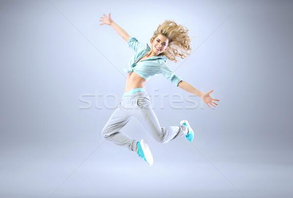 Stock fotó: Portré · fiatal · karcsú · atléta · nő · lány
