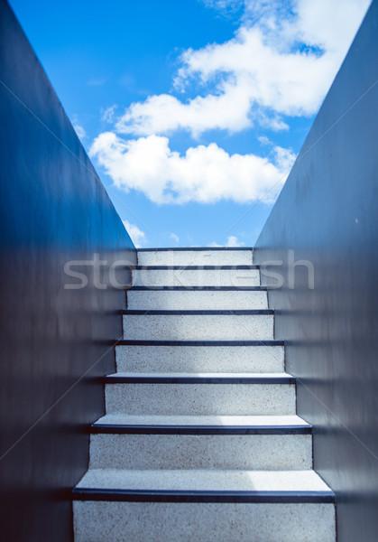 лестница ведущий вверх небе облаке цвета Сток-фото © konradbak