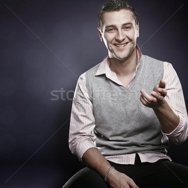 Young happy businessman Stock photo © konradbak