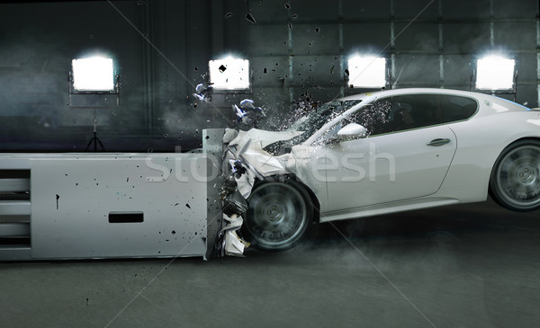 Stock photo: Art photo of crashed car