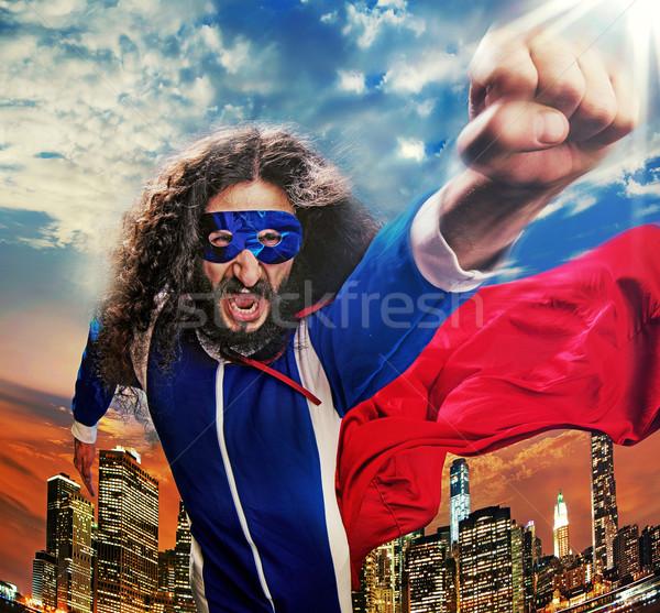 Retrato cidade ambicioso homem esportes Foto stock © konradbak