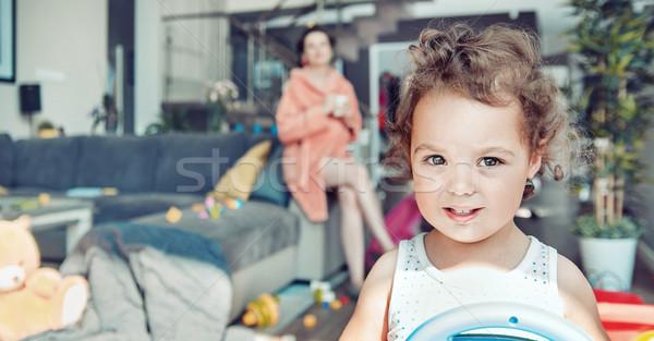 Mom and daughter during a casual day Stock photo © konradbak