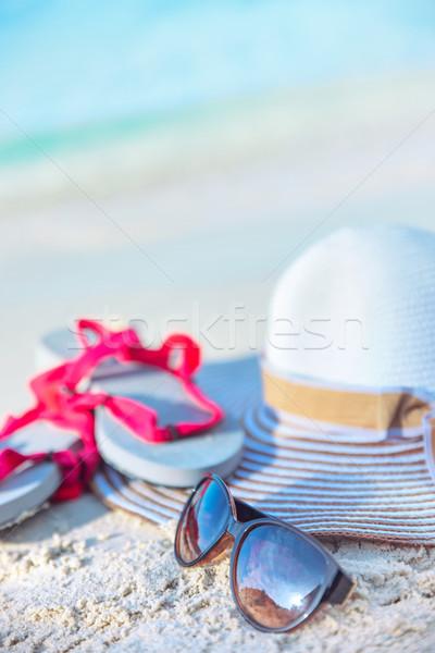 Yaz tatili tatil tropikal plaj plaj çiçek Stok fotoğraf © konradbak