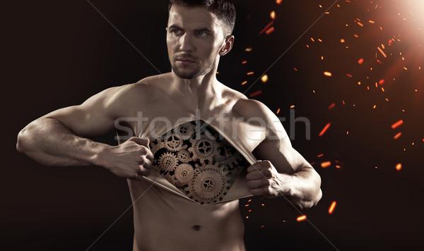 Ludzi wewnętrzny wyrafinowany mechanizm narzędzi ciało Zdjęcia stock © konradbak