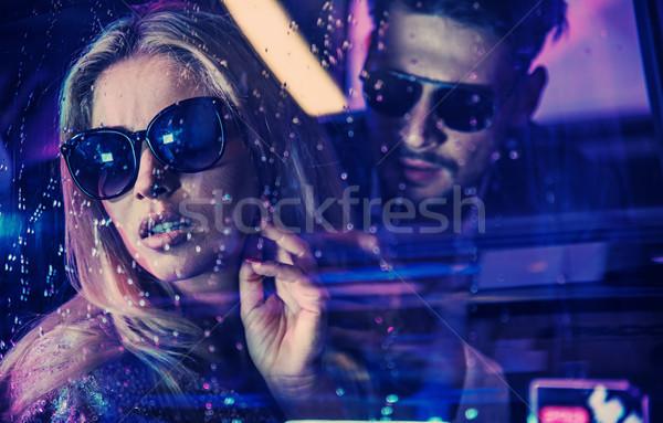 красочный портрет привлекательный знаменитость пару люди Сток-фото © konradbak