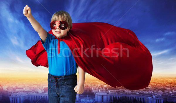 Comic style picture of a superhero Stock photo © konradbak