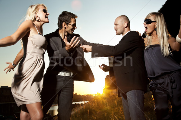 Quarreling couple Stock photo © konradbak