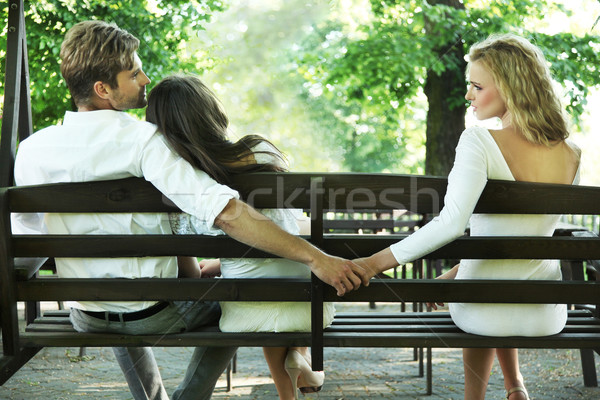 Conceptual photo of a marital infidelity Stock photo © konradbak