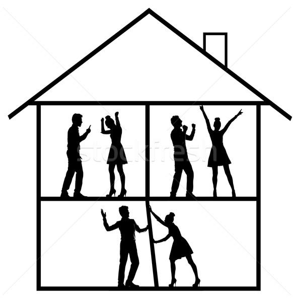 Kép boldog veszekedik család kép nő Stock fotó © konradbak