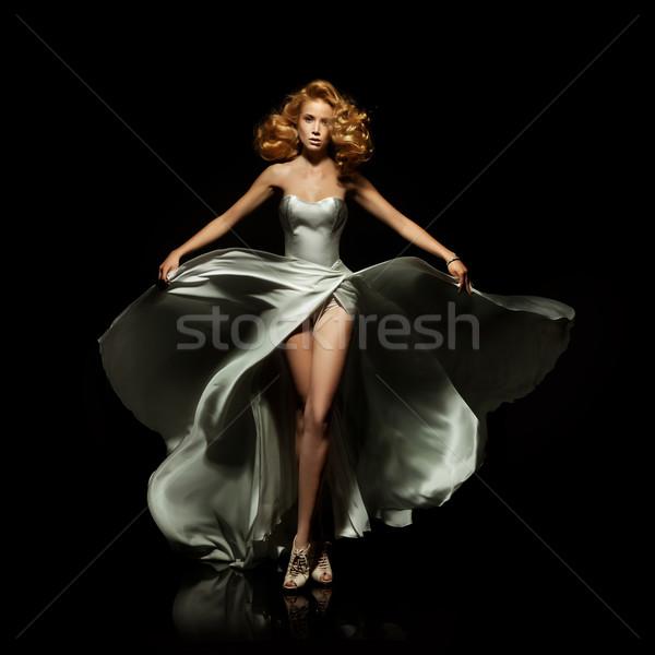 Cute signora nero donna sexy Foto d'archivio © konradbak