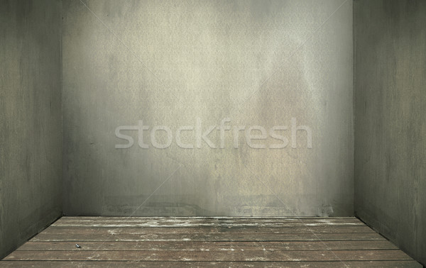 Empty vintage room interior, wooden floor  Stock photo © konradbak