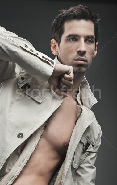 Gorgeous fashion style photo of an elegant man Stock photo © konradbak