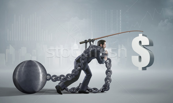 Stockfoto: Ambitieus · man · lopen · eigen · business · geld