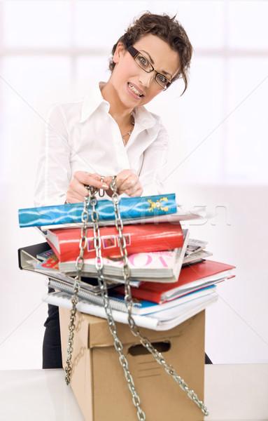 Young overworked secretary  Stock photo © konradbak