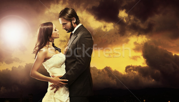 Stock photo: Glamour style photo of handsome couple