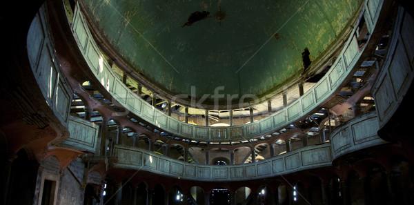 Vecchio Opera costruzione foto muro luce Foto d'archivio © konradbak