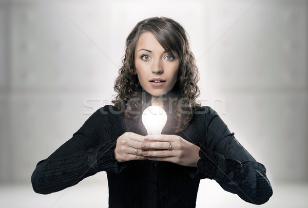 a modern portrait of a young professional businesswoman Stock photo © konradbak